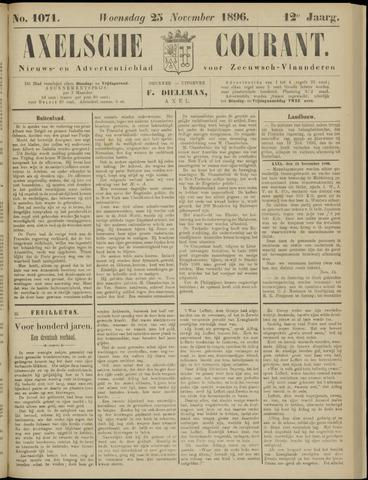 Axelsche Courant 1896-11-25