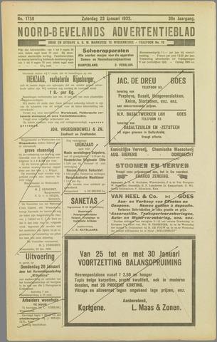 Noord-Bevelands Nieuws- en advertentieblad 1932-01-23