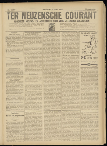 Ter Neuzensche Courant. Algemeen Nieuws- en Advertentieblad voor Zeeuwsch-Vlaanderen / Neuzensche Courant ... (idem) / (Algemeen) nieuws en advertentieblad voor Zeeuwsch-Vlaanderen 1935-04-01