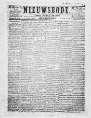 Sheboygan Nieuwsbode 1858-07-06
