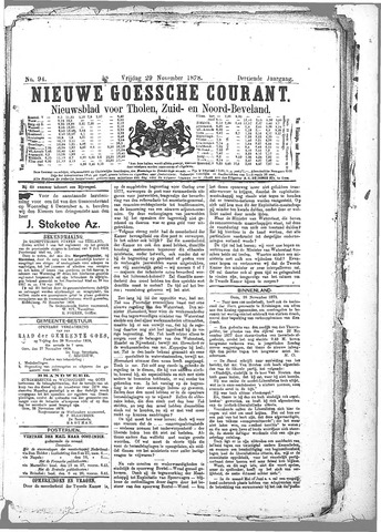 Nieuwe Goessche Courant 1878-11-29