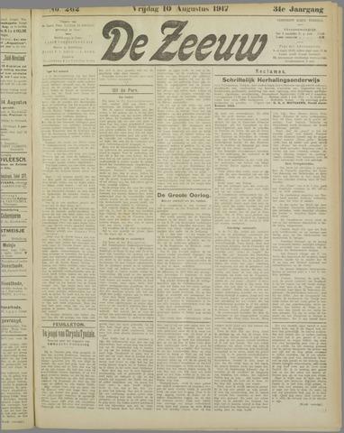 De Zeeuw. Christelijk-historisch nieuwsblad voor Zeeland 1917-08-10