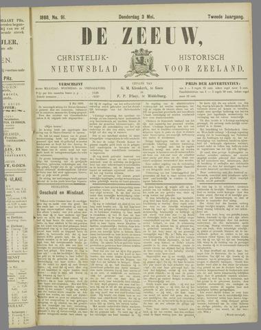 De Zeeuw. Christelijk-historisch nieuwsblad voor Zeeland 1888-05-03