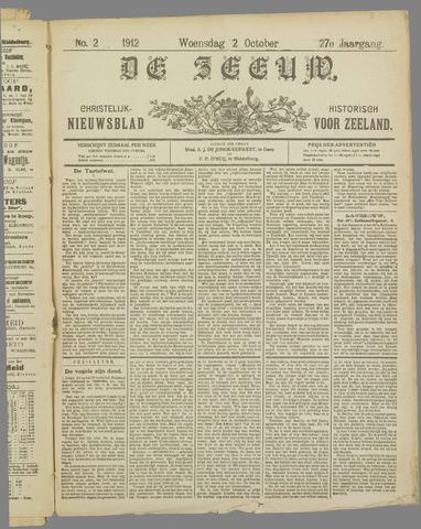 De Zeeuw. Christelijk-historisch nieuwsblad voor Zeeland 1912-10-02