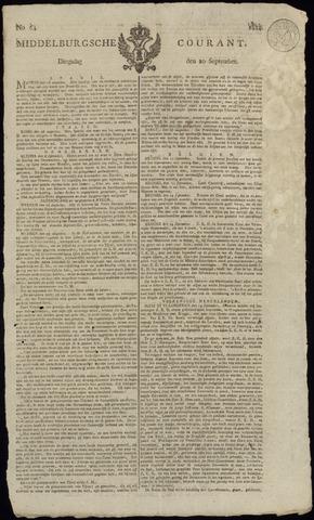 Middelburgsche Courant 1814-09-20