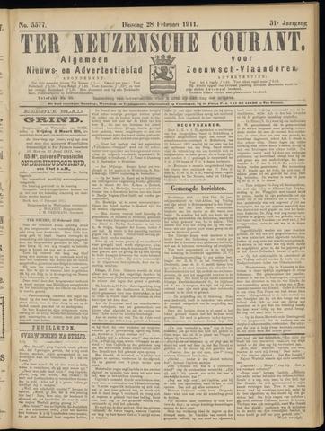 Ter Neuzensche Courant. Algemeen Nieuws- en Advertentieblad voor Zeeuwsch-Vlaanderen / Neuzensche Courant ... (idem) / (Algemeen) nieuws en advertentieblad voor Zeeuwsch-Vlaanderen 1911-02-28