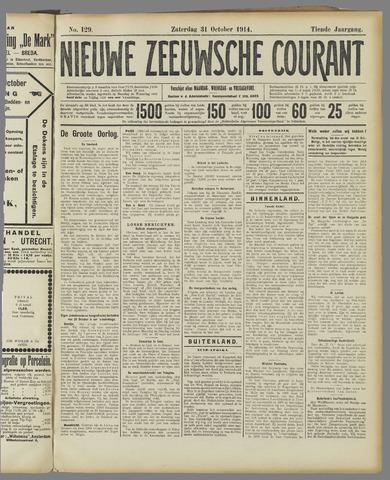 Nieuwe Zeeuwsche Courant 1914-10-31