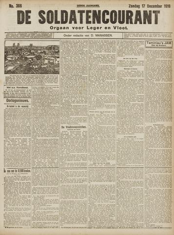 De Soldatencourant. Orgaan voor Leger en Vloot 1916-12-17