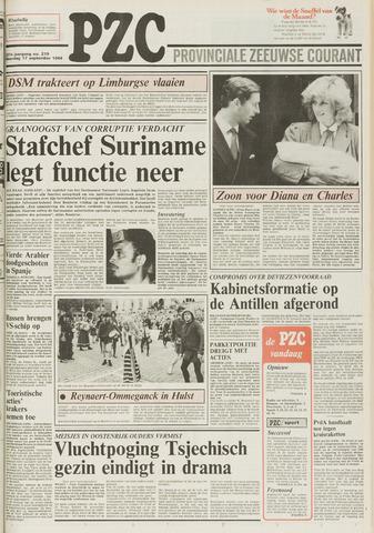 Provinciale Zeeuwse Courant 1984-09-17