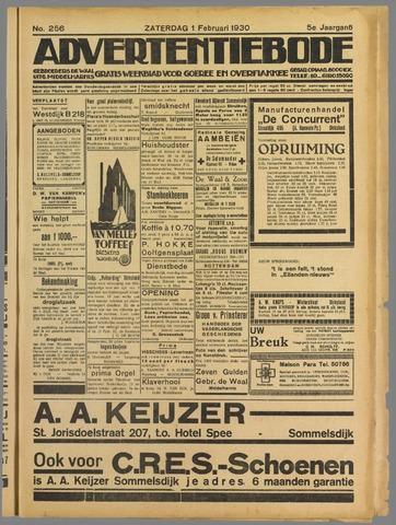 Advertentieblad. Gratis weekblad voor Goeree en Overflakkee 1930-02-01