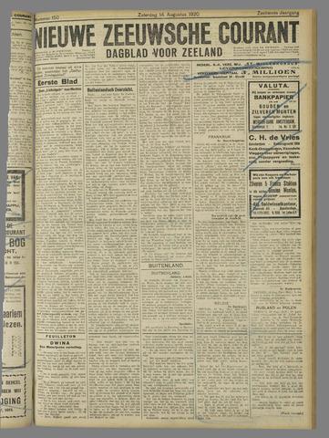 Nieuwe Zeeuwsche Courant 1920-08-14