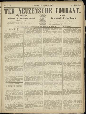 Ter Neuzensche Courant. Algemeen Nieuws- en Advertentieblad voor Zeeuwsch-Vlaanderen / Neuzensche Courant ... (idem) / (Algemeen) nieuws en advertentieblad voor Zeeuwsch-Vlaanderen 1887-08-13