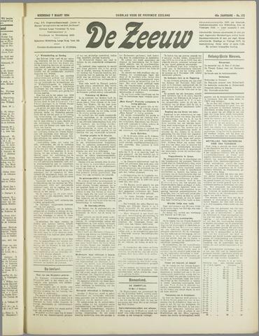 De Zeeuw. Christelijk-historisch nieuwsblad voor Zeeland 1934-03-07
