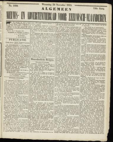Ter Neuzensche Courant. Algemeen Nieuws- en Advertentieblad voor Zeeuwsch-Vlaanderen / Neuzensche Courant ... (idem) / (Algemeen) nieuws en advertentieblad voor Zeeuwsch-Vlaanderen 1875-11-24