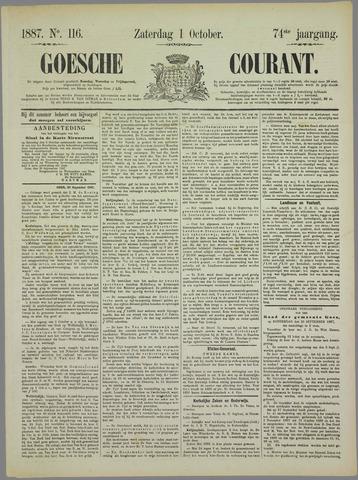 Goessche Courant 1887-10-01