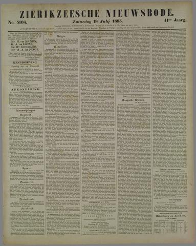 Zierikzeesche Nieuwsbode 1885-07-18