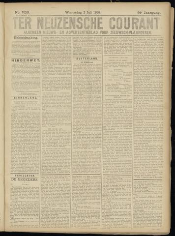 Ter Neuzensche Courant. Algemeen Nieuws- en Advertentieblad voor Zeeuwsch-Vlaanderen / Neuzensche Courant ... (idem) / (Algemeen) nieuws en advertentieblad voor Zeeuwsch-Vlaanderen 1924-07-02