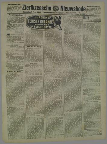 Zierikzeesche Nieuwsbode 1923-02-07