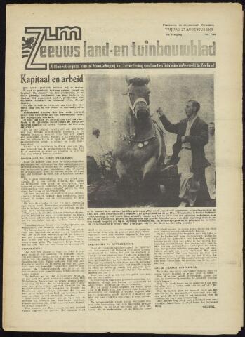 Zeeuwsch landbouwblad ... ZLM land- en tuinbouwblad 1965-08-27