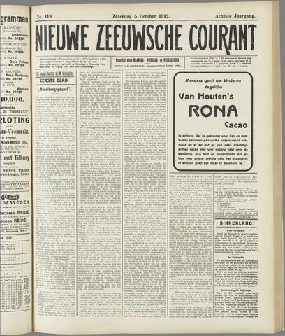 Nieuwe Zeeuwsche Courant 1912-10-05