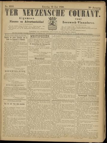 Ter Neuzensche Courant. Algemeen Nieuws- en Advertentieblad voor Zeeuwsch-Vlaanderen / Neuzensche Courant ... (idem) / (Algemeen) nieuws en advertentieblad voor Zeeuwsch-Vlaanderen 1896-06-13