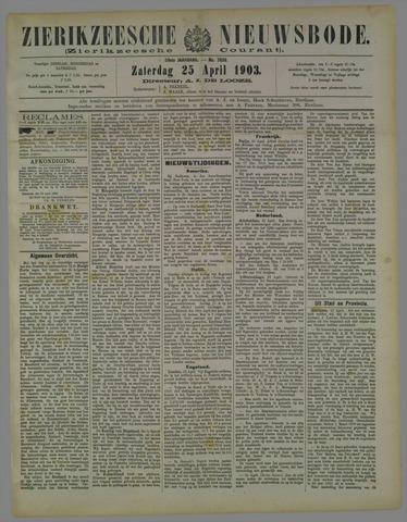 Zierikzeesche Nieuwsbode 1903-04-25