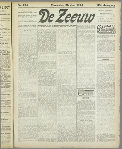 De Zeeuw. Christelijk-historisch nieuwsblad voor Zeeland 1924-06-25