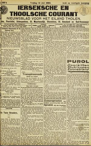 Ierseksche en Thoolsche Courant 1930-07-11