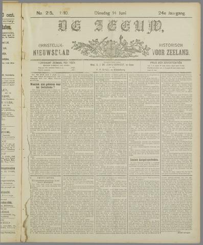 De Zeeuw. Christelijk-historisch nieuwsblad voor Zeeland 1910-06-14