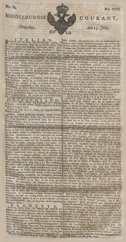 Middelburgsche Courant 1777-07-15