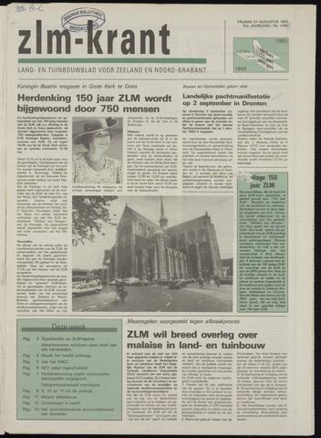 Zeeuwsch landbouwblad ... ZLM land- en tuinbouwblad 1993-08-27