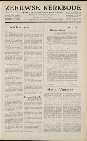 Zeeuwsche kerkbode, weekblad gewijd aan de belangen der gereformeerde kerken/ Zeeuwsch kerkblad 1958-09-26