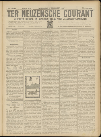 Ter Neuzensche Courant. Algemeen Nieuws- en Advertentieblad voor Zeeuwsch-Vlaanderen / Neuzensche Courant ... (idem) / (Algemeen) nieuws en advertentieblad voor Zeeuwsch-Vlaanderen 1937-12-08