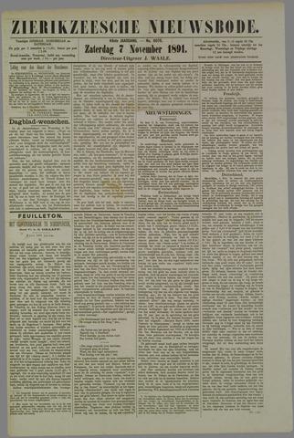 Zierikzeesche Nieuwsbode 1891-11-07