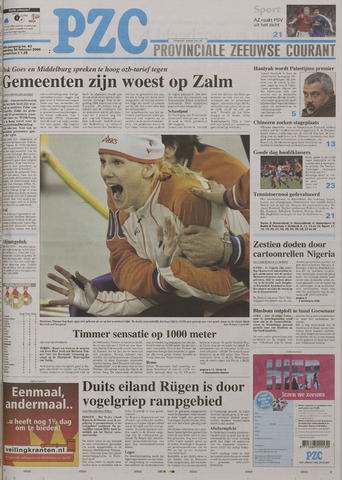 Provinciale Zeeuwse Courant 2006-02-20