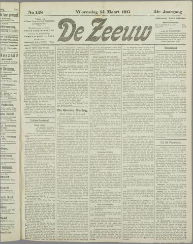 De Zeeuw. Christelijk-historisch nieuwsblad voor Zeeland 1917-03-14