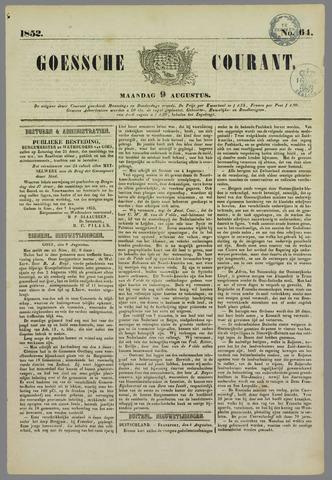 Goessche Courant 1852-08-09
