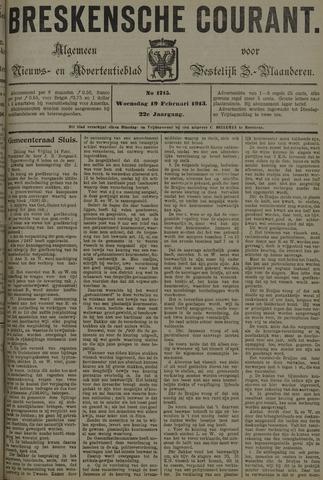 Breskensche Courant 1913-02-19