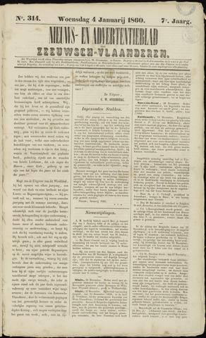 Ter Neuzensche Courant. Algemeen Nieuws- en Advertentieblad voor Zeeuwsch-Vlaanderen / Neuzensche Courant ... (idem) / (Algemeen) nieuws en advertentieblad voor Zeeuwsch-Vlaanderen 1860-01-04