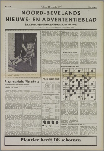 Noord-Bevelands Nieuws- en advertentieblad 1971-09-23