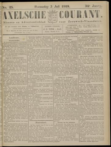 Axelsche Courant 1918-07-03