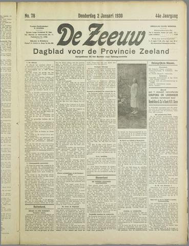 De Zeeuw. Christelijk-historisch nieuwsblad voor Zeeland 1930