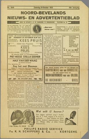 Noord-Bevelands Nieuws- en advertentieblad 1933-10-28
