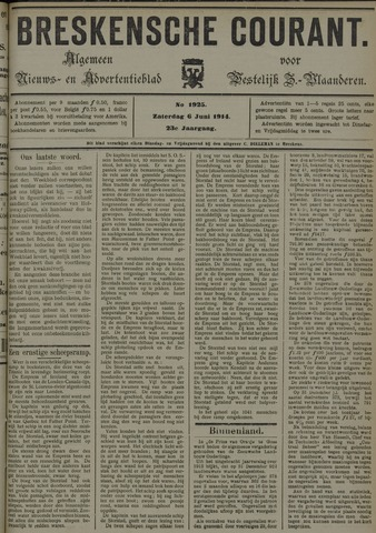 Breskensche Courant 1914-06-06