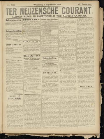 Ter Neuzensche Courant. Algemeen Nieuws- en Advertentieblad voor Zeeuwsch-Vlaanderen / Neuzensche Courant ... (idem) / (Algemeen) nieuws en advertentieblad voor Zeeuwsch-Vlaanderen 1923-09-05