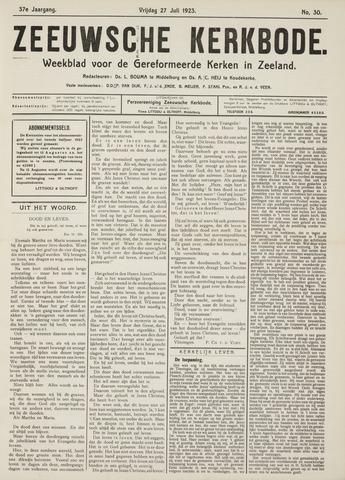 Zeeuwsche kerkbode, weekblad gewijd aan de belangen der gereformeerde kerken/ Zeeuwsch kerkblad 1923-07-27