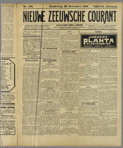 Nieuwe Zeeuwsche Courant 1919-12-25
