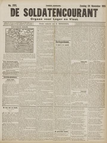 De Soldatencourant. Orgaan voor Leger en Vloot 1915-11-28