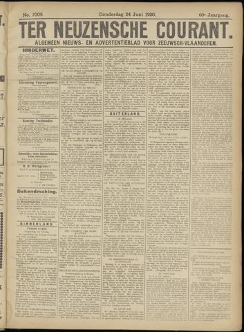 Ter Neuzensche Courant. Algemeen Nieuws- en Advertentieblad voor Zeeuwsch-Vlaanderen / Neuzensche Courant ... (idem) / (Algemeen) nieuws en advertentieblad voor Zeeuwsch-Vlaanderen 1920-06-24