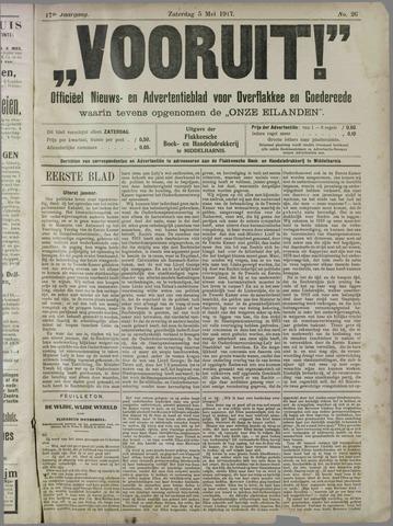 """""""Vooruit!""""Officieel Nieuws- en Advertentieblad voor Overflakkee en Goedereede 1917-05-05"""